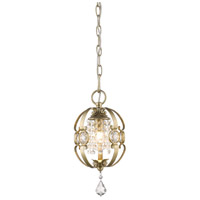 Ella 1 Light 7 inch White Gold Mini Pendant Ceiling Light