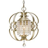 Golden Lighting 1323-M3-WG Ella 3 Light 14 inch White Gold Mini Chandelier Ceiling Light Convertible to Semi-Flush