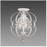 Ella 3 Light 14 inch French White Semi-Flush Mount Ceiling Light