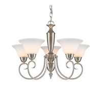 Golden Lighting Centennial 5 Light Chandelier in Pewter 1395-PW-OP