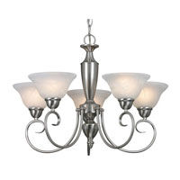 Golden Lighting Centennial 5 Light Chandelier in Pewter 1395-PW-MBL