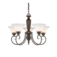 Golden Lighting Centennial 5 Light Chandelier in Rubbed Bronze 1395-RBZ-OP