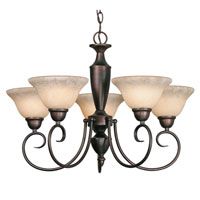 Golden Lighting Centennial 5 Light Chandelier in Rubbed Bronze 1395-RBZ-TEA