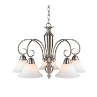 Golden Lighting Centennial 5 Light Chandelier in Pewter 1395DL-PW-OP