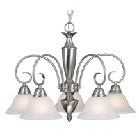 Golden Lighting Centennial 5 Light Chandelier in Pewter 1395DL-PW-MBL