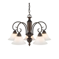 Golden Lighting Centennial 5 Light Chandelier in Rubbed Bronze 1395DL-RBZ-OP