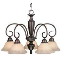 Golden Lighting Centennial 5 Light Chandelier in Rubbed Bronze 1395DL-RBZ-TEA
