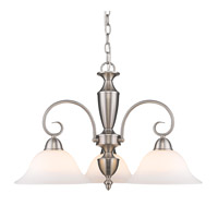 Golden Lighting Centennial 3 Light Chandelier in Pewter 139X-ND3-PW-OP