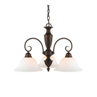 Golden Lighting Centennial 3 Light Chandelier in Rubbed Bronze 139X-ND3-RBZ-OP