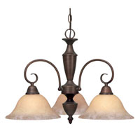 Golden Lighting Centennial 3 Light Chandelier in Rubbed Bronze 139X-ND3-RBZ-TEA
