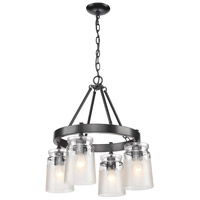 Travers 4 Light 22 inch Black Chandelier Ceiling Light