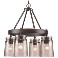 Golden Lighting 1405-4-RBZ-AG Travers 4 Light 22 inch Rubbed Bronze Chandelier Ceiling Light