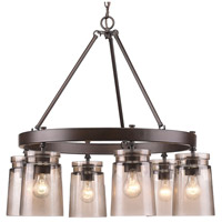 Travers 6 Light 28 inch Rubbed Bronze Chandelier Ceiling Light