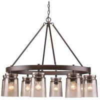 Travers 8 Light 36 inch Rubbed Bronze Chandelier Ceiling Light