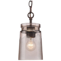 Golden Lighting Travers 1 Light Mini Pendant in Rubbed Bronze 1405-M1L-RBZ-AG