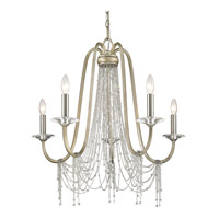 Sancerre 5 Light 28 inch White Gold Chandelier Ceiling Light