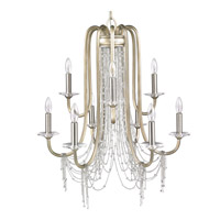 Golden Lighting Sancerre 9 Light Chandelier in White Gold 1425-9-WG