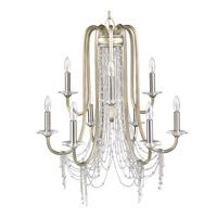 Golden Lighting 1425-9-WG Sancerre 9 Light 30 inch White Gold Chandelier Ceiling Light 2 Tier