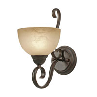 Golden Lighting Riverton 1 Light Wall Sconce in Peppercorn 1567-1W-PC