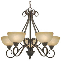 Golden Lighting 1567-5-PC Riverton 5 Light 30 inch Peppercorn Chandelier Ceiling Light