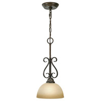 Golden Lighting 1567-M1L-PC Riverton 1 Light 8 inch Peppercorn Mini Pendant Ceiling Light