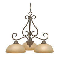 Golden Lighting Riverton 3 Light Mini Chandelier in Peppercorn 1567-ND3-PC