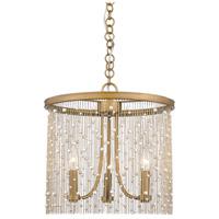 Golden Lighting 1771-3P-PG-PRL Marilyn 3 Light 15 inch Peruvian Gold Pendant Ceiling Light