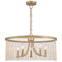 Marilyn 5 Light 25 inch Peruvian Gold Chandelier Ceiling Light