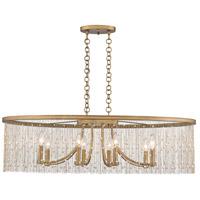 Golden Lighting 1771-LP-PG-PRL Marilyn 8 Light 38 inch Peruvian Gold Linear Pendant Ceiling Light
