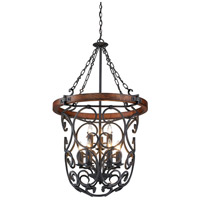 Golden Lighting 1821-9P-BI Madera 9 Light 27 inch Black Iron Pendant Ceiling Light, 2 Tier alternative photo thumbnail