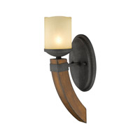 Golden Madera 1 Light Bath Fixture in Black Iron 1821-BA1-BI
