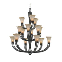 Golden Lighting Genesis 15 Light Chandelier in Roan Timber 1850-15L-RT