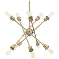 Golden Lighting 1945-10 OG Axel 10 Light 5 inch Olympic Gold Chandelier Ceiling Light in No Shade Large