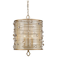 Joia 3 Light 15 inch Peruvian Gold Pendant Ceiling Light