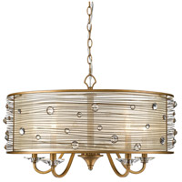 Joia 5 Light 26 inch Peruvian Gold Chandelier Ceiling Light