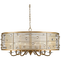 Joia 8 Light 34 inch Peruvian Gold Chandelier Ceiling Light