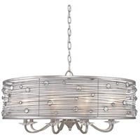 Golden Lighting Joia 8 Light Chandelier in Peruvian Silver with Sterling Mist Shade 1993-8-PS