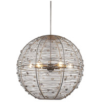 Golden Lighting 1993-L-PS Joia 6 Light 27 inch Peruvian Silver Pendant Ceiling Light