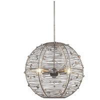 Joia 4 Light 21 inch Peruvian Silver Pendant Ceiling Light