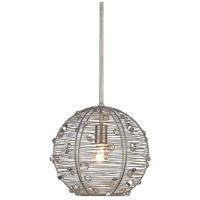 Golden Lighting 1993-S-PS Joia 1 Light 13 inch Peruvian Silver Pendant Ceiling Light