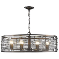 Bijoux 8 Light 33 inch Brushed Etruscan Bronze Chandelier Ceiling Light