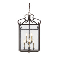 Valencia 6 Light 16 inch Fired Bronze Foyer Chandelier Ceiling Light, 2 Tier