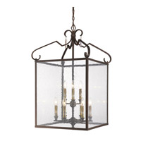 Valencia 9 Light 20 inch Fired Bronze Foyer Chandelier Ceiling Light, 2 Tier