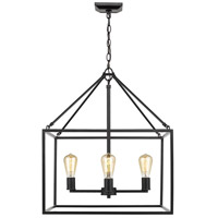 Golden Lighting 2072-4-BLK Wesson 4 Light 21 inch Black Chandelier Ceiling Light