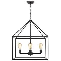 Golden Lighting 2072-4-BLK Wesson 4 Light 21 inch Black Chandelier Ceiling Light