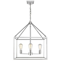 Golden Lighting 2072-4 CH Wesson 4 Light 21 inch Chrome Chandelier Ceiling Light