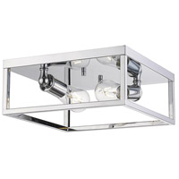 Wesson 2 Light 12 inch Chrome Flush Mount Ceiling Light