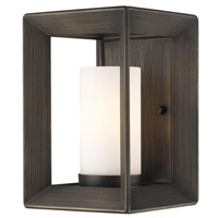 Golden Lighting Smyth 1 Light Sconce in Gunmetal Bronze 2073-1W-GMT-OP