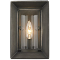 Smyth 1 Light 6 inch Gunmetal Bronze Wall Sconce Wall Light in Clear Glass