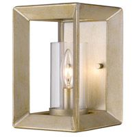 Golden Lighting Smyth 1 Light Sconce in White Gold 2073-1W-WG-CLR